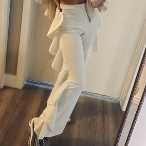 Nasty Gal high waisted ruffle pants
